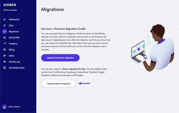 Kinsta Site Migration