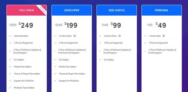WP Migrate DB Pricing