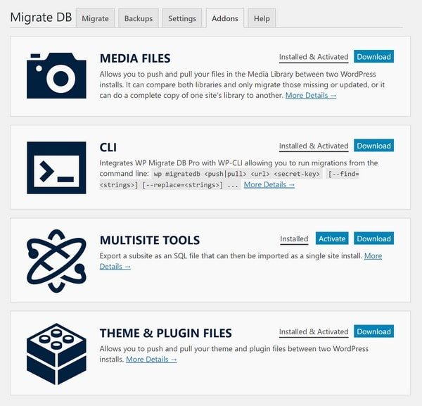 WP Migrate DB Pro Addons