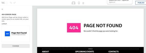 Web.com 404 page