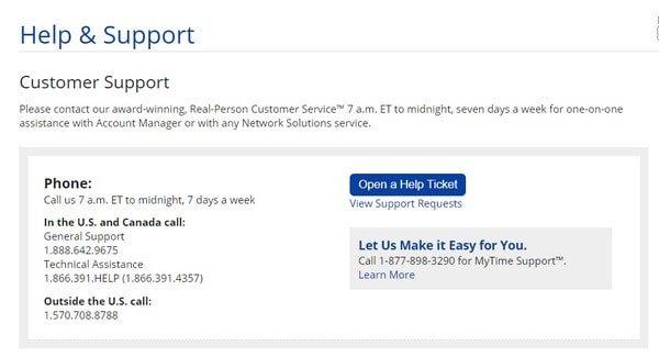 Web.com Customer Support