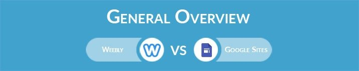 Weebly vs Google Sites: General Overview