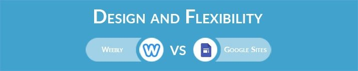 Weebly vs Google Sites: Design and Flexibility