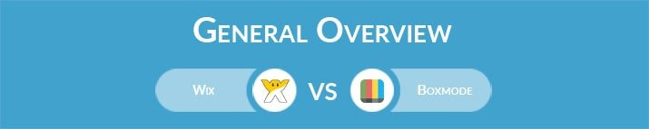 Wix vs Boxmode: General Overview
