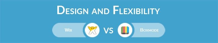 Wix vs Boxmode: Design and Flexibility