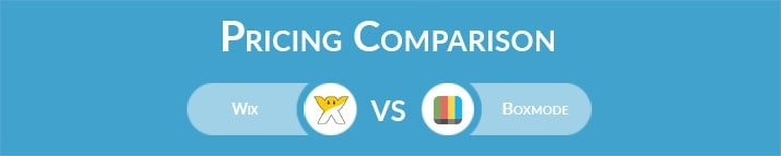 Wix vs Boxmode: General Pricing Comparison