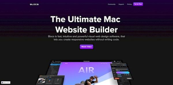 Blocs – лучшая программа для создания сайтов в MAC OS