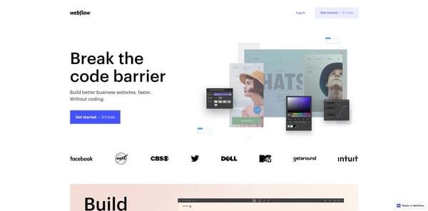 Webflow - программа для профессиональной разработки сайтов