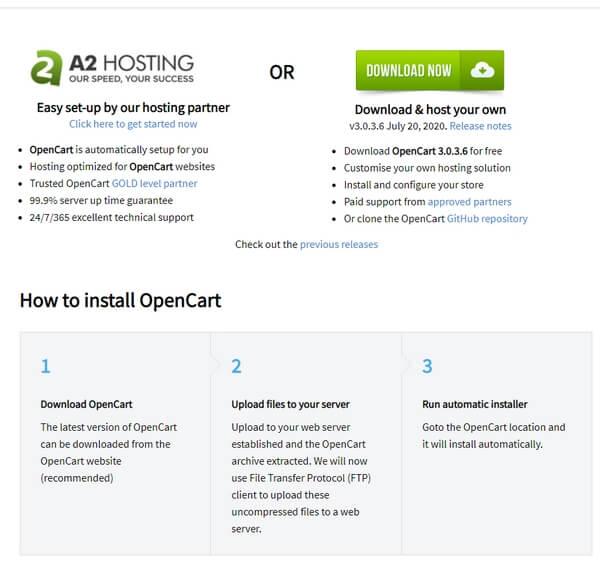OpenCart установка