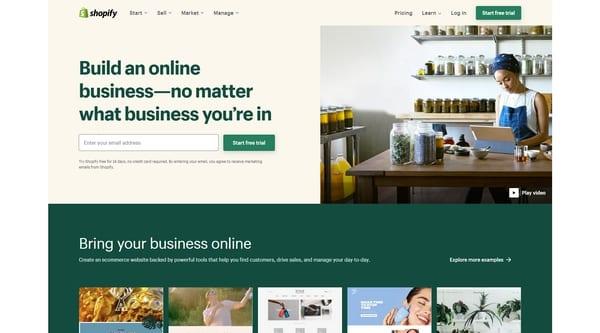 Shopify главная