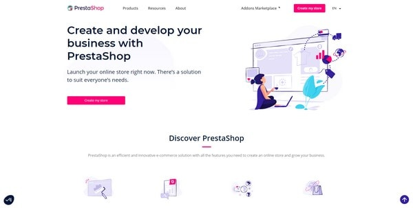 PrestaShop главная страница