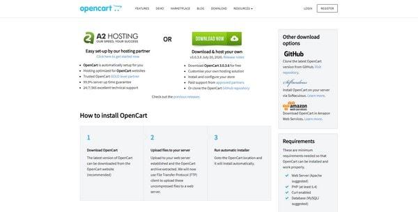 Скачивание OpenCart