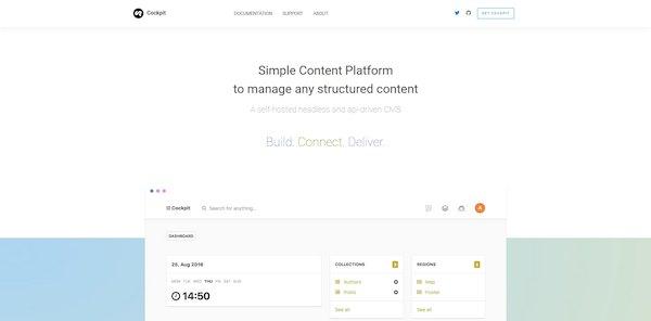 Cockpit – система управления контентом, написанная на PHP